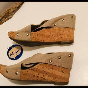 Lucky Brand wedge heel.